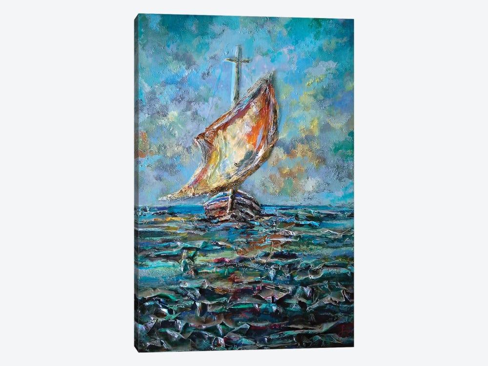 Sailing Boat by Sinisa Saratlic 1-piece Canvas Print