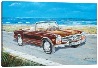 1970 Mercedes-Benz 280 SL Pagoda Canvas Art Print