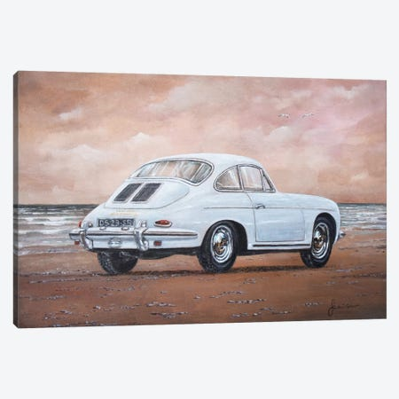 1962 Porsche 356 Carrera 2 Canvas Print #SNS8} by Sinisa Saratlic Canvas Art