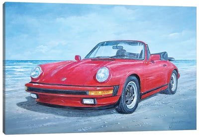 1988 Porsche 911 Carrera Cabriolet Canvas Art Print