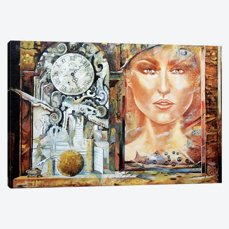 About Time Canvas Print #SNS91} by Sinisa Saratlic Canvas Wall Art