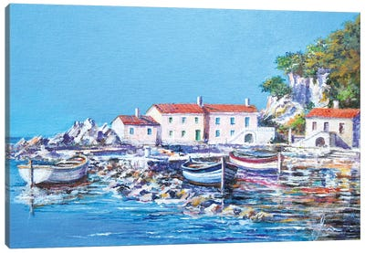 Blue Bay Canvas Art Print