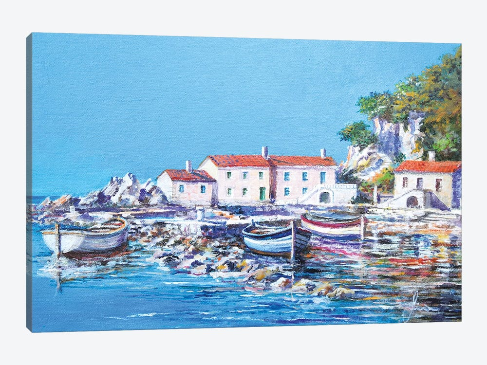 Blue Bay by Sinisa Saratlic 1-piece Art Print