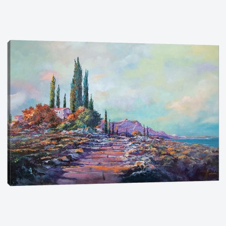 Morning Mist Canvas Print #SNS99} by Sinisa Saratlic Canvas Art