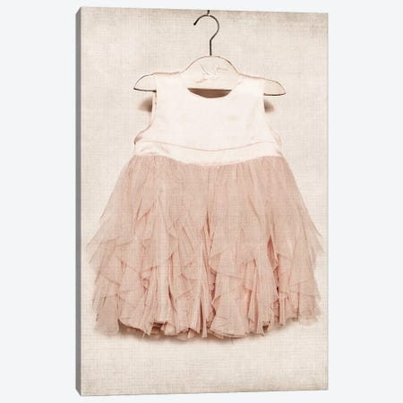 Vintage Pink Dress Canvas Print #SNT103} by Saint and Sailor Studios Canvas Wall Art