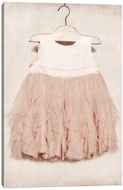 Vintage Pink Dress Canvas Art Print