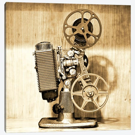 Vintage Projector I 3-Piece Canvas #SNT104} by Saint and Sailor Studios Art Print