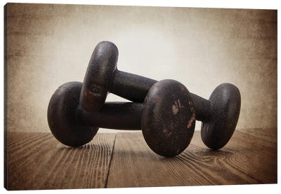 Vintage Weights Canvas Art Print