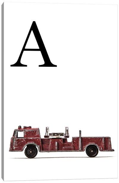 A Fire Engine Letter Canvas Art Print