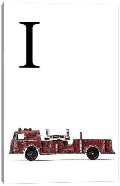 I Fire Engine Letter Canvas Art Print