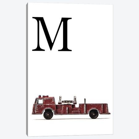 M Fire Engine Letter Canvas Print #SNT125} by Saint and Sailor Studios Canvas Print