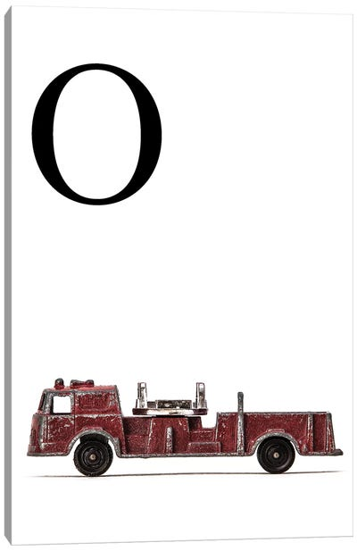 O Fire Engine Letter Canvas Art Print