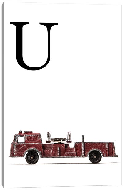 U Fire Engine Letter Canvas Art Print