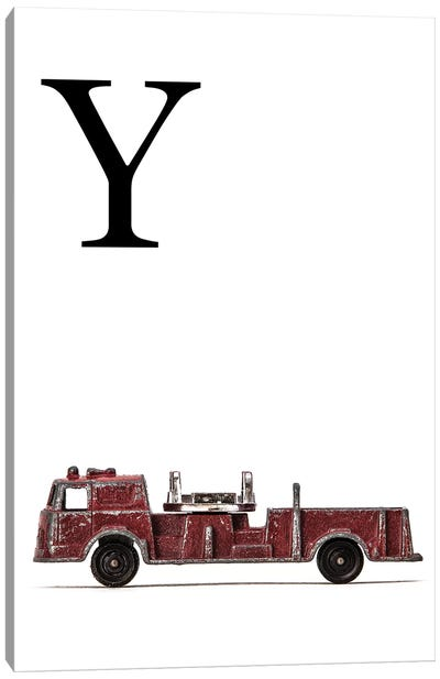 Y Fire Engine Letter Canvas Art Print