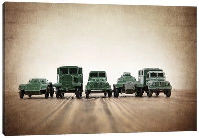 Army Truck Lineup Canvas Art Print