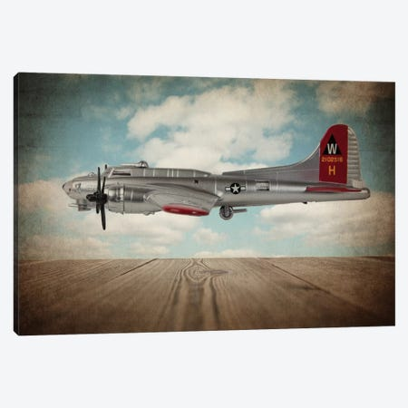 B17 Flying Fortress Canvas Print #SNT14} by Saint and Sailor Studios Canvas Wall Art