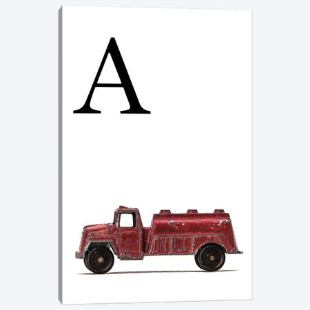 A Water Truck White Letter Canvas Print #SNT165} by Saint and Sailor Studios Art Print