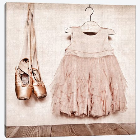 Baby Girl Dress And Ballet Slippers 3-Piece Canvas #SNT16} by Saint and Sailor Studios Canvas Art
