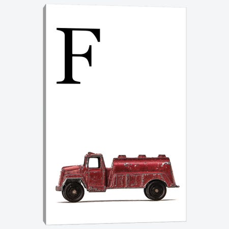 F Water Truck White Letter Canvas Print #SNT170} by Saint and Sailor Studios Canvas Art Print