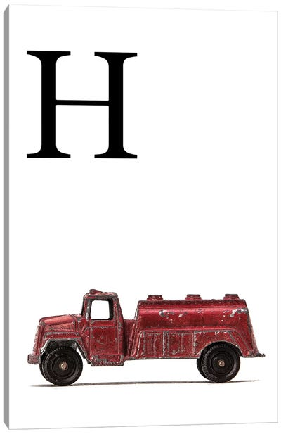 H Water Truck White Letter Canvas Art Print