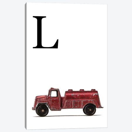 L Water Truck White Letter Canvas Print #SNT176} by Saint and Sailor Studios Canvas Art