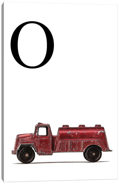 O Water Truck White Letter Canvas Art Print