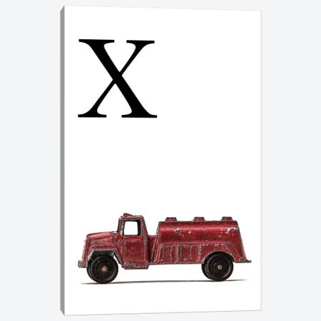 X Water Truck White Letter Canvas Print #SNT188} by Saint and Sailor Studios Canvas Artwork