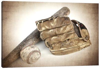 Baseball Bat Glove Canvas Art Print