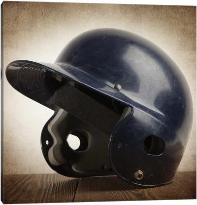 Baseball helmet Canvas Art Print