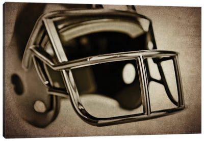 Black Helmet Canvas Art Print