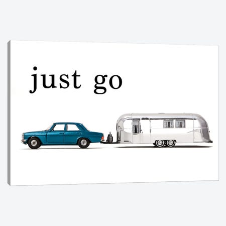 Airstream Car - Just Go 3-Piece Canvas #SNT2} by Saint and Sailor Studios Canvas Print
