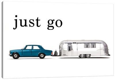 Airstream Car - Just Go Canvas Art Print