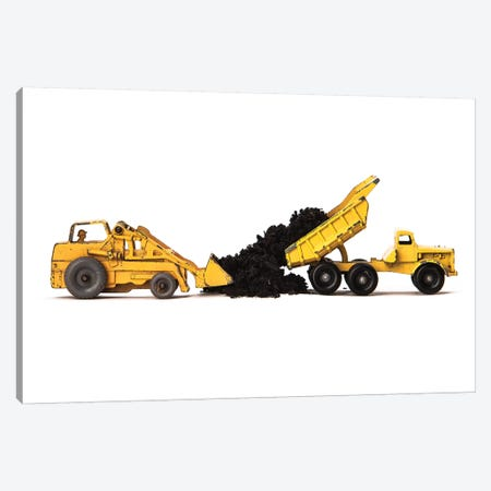 Dump Truck Dirt On White Canvas Print #SNT40} by Saint and Sailor Studios Canvas Wall Art