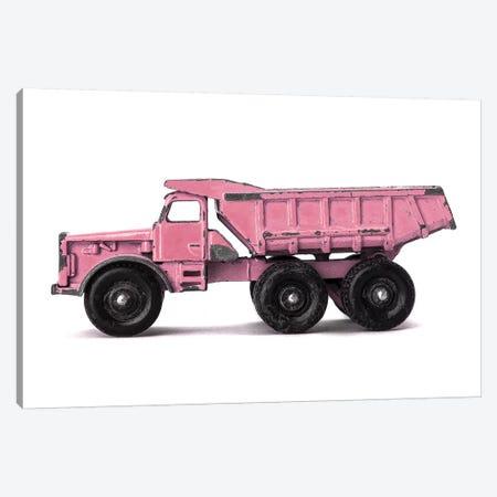 Dumptruck On White Pink Canvas Print #SNT41} by Saint and Sailor Studios Canvas Art