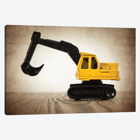 Excavator Canvas Print #SNT43} by Saint and Sailor Studios Canvas Artwork
