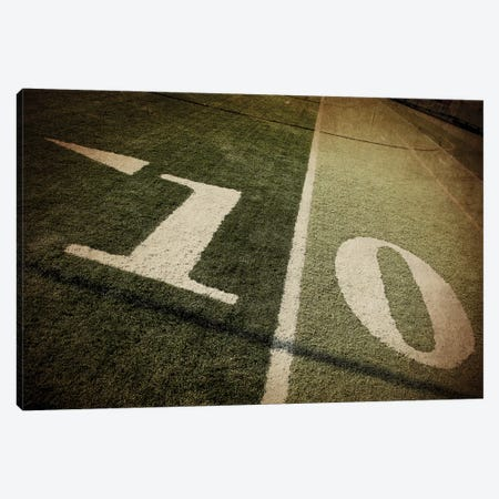 Football 10-yd Line Canvas Print #SNT44} by Saint and Sailor Studios Canvas Print
