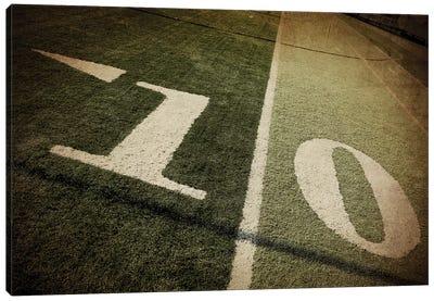 Football 10-yd Line Canvas Art Print