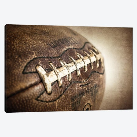 Football Vintage Canvas Print #SNT46} by Saint and Sailor Studios Art Print