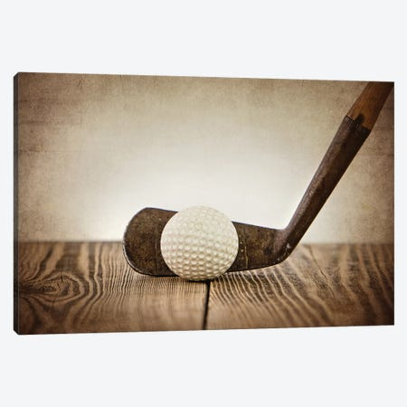 Golf Iron Ball 3-Piece Canvas #SNT51} by Saint and Sailor Studios Canvas Print