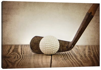 Golf Iron Ball Canvas Art Print