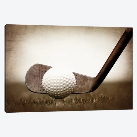 Golf Iron Vintage Grass Canvas Print #SNT52} by Saint and Sailor Studios Art Print