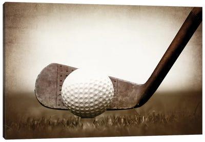 Golf Iron Vintage Grass Canvas Art Print