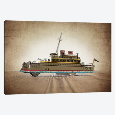 Green Tin Ship 3-Piece Canvas #SNT53} by Saint and Sailor Studios Canvas Print