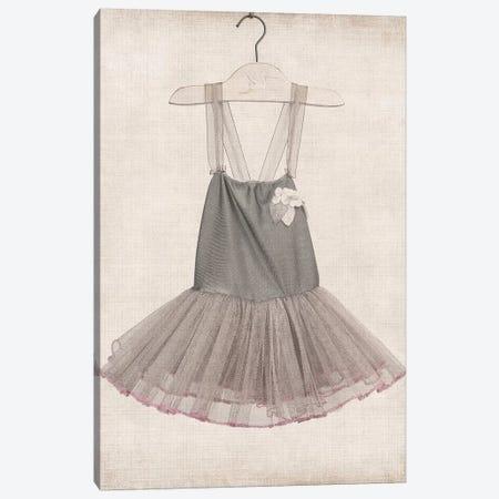Grey Tutu Ballerina Dress 3-Piece Canvas #SNT54} by Saint and Sailor Studios Canvas Artwork