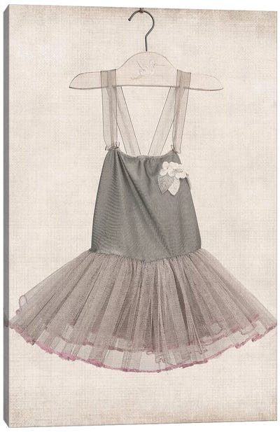 Grey Tutu Ballerina Dress Canvas Art Print