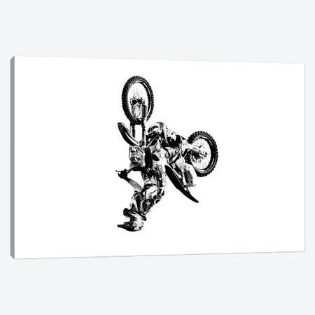 Motocross Flip White Canvas Print #SNT68} by Saint and Sailor Studios Canvas Artwork
