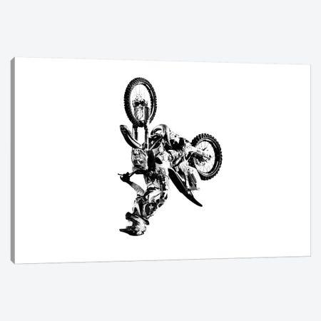 Motocross Flip White Canvas Print #SNT68} by Saint and Sailor Studios Canvas Artwork