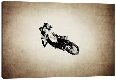 Motocross Vintage Canvas Art Print