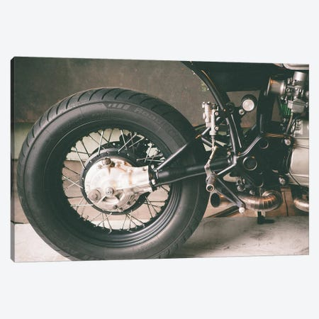 Motorcycle back tire Canvas Print #SNT70} by Saint and Sailor Studios Canvas Art Print