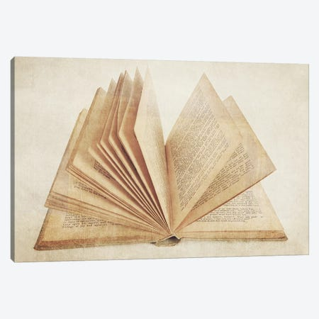 Open Book Canvas Print #SNT73} by Saint and Sailor Studios Canvas Art Print